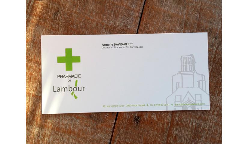 Carton de correspondance, suite de papeterie, déclinaison logo