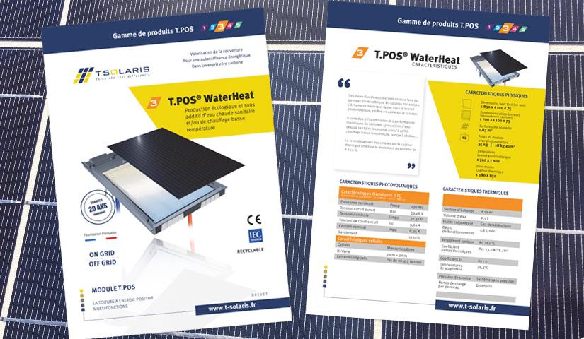Fiches techniques recto-verso, document de communication, imprimé, fiche produit