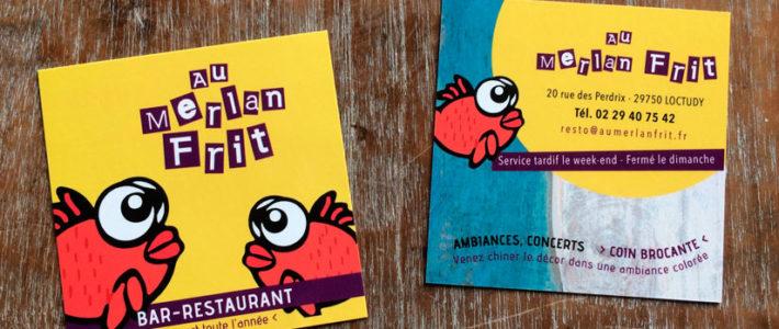 Cartes et flyers – Au Merlan Frit