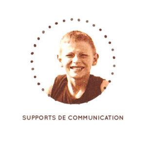 Supports de communication, affiches, flyers, cartes de visite, communication par l'objet, goodies, vitrophanies