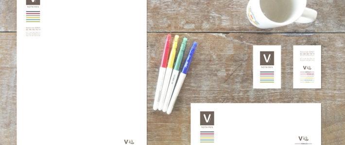 Logo & Charte graphique – V Notaires