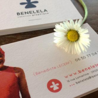 Cartes de visite BENELELA - Graphiste bretonne