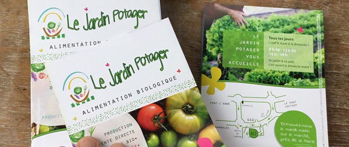 Cartes et flyers – Le Jardin Potager