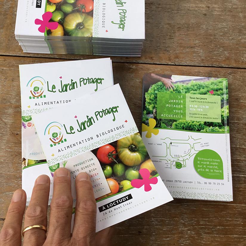Flyers quadri Le Jardin Potager - BENELELA Création Graphique - Finistère