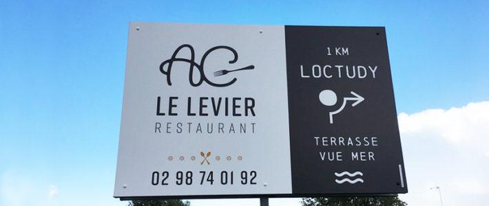 Signalétique – Restaurant AC LE LEVIER