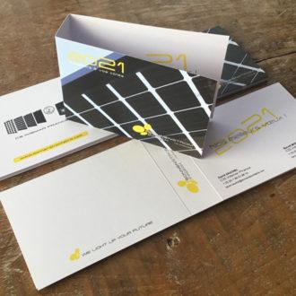 Cartes de voeux, packaging 2021